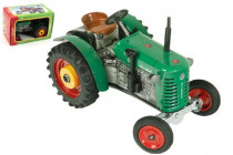 Traktor Zetor 25A zelený na kľúčik kov 15cm 1:25 v krabičke Kovap