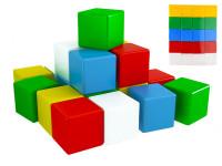 Kocky stavebné 7 cm farebné 20 ks vo fólii