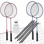 Spokey Fun Start sada na badminton, 4 rakety,síť+rám,míčky
