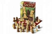 Šach cestovný spoločenská hra drevo