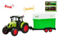 Traktor s vlečkou na zotrvačník a batérie so svetlom a zvukom - mix variantov či farieb