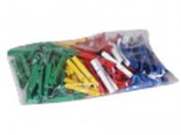 štipce na bielizeň plastové (100ks) - mix farieb