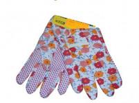 rukavice AVOCET bavlna / plastové, terčíky