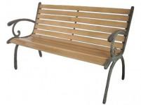 lavička záhradné 123x54x77cm liatina / drevo