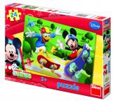 Puzzle 24 dílků Mickey na skateboardu