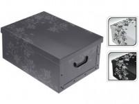 box úložný 51x37x24cm s vekom, kartón - mix farieb