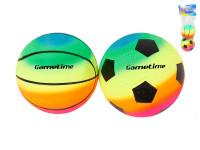 Loptu dúhový futbal / basketbal 10 cm 2 ks
