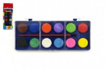Vodové farby 12 farieb v krabičke 8x19cm