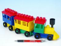 Stavebnica LORI 7 vlak + 2 vagóniky plast v sáčku