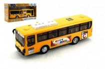 Autobus plast 30cm na baterie se zvukem se světlem na setrvačník