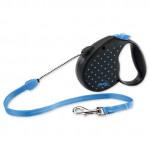 Vodítko FLEXI Color Dots M lanko 5m / 20kg modrá