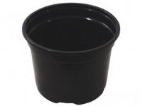 Kvetník PREMIUM VCD ľahčený plastový čierny 10cm
