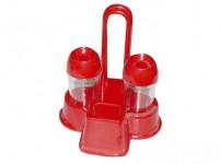 soľnička PH (2ks) so stojanom plastová - mix farieb - VÝPREDAJ