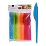 nôž plastový (48ks) jednorazový - mix farieb