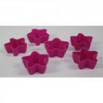formička HVĚZDIČKA silikon (6ks) - mix barev
