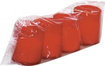 Sviečka červená 3 x 40 gs viečkom (Km6 / 40 / b)