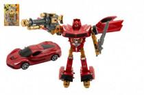 Transformer auto / robot plast 24cm - mix farieb