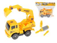 Auto stavební šroubovací 18 cm na setrvačník - mix variant či barev