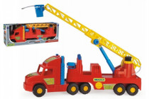 Auto Super Truck náves hasiči rebrík striekacie vodu plast 77cm v krabici Wader
