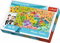Puzzle 44 dílků Vzdělávácí Mapa Česka