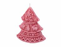 Svíčka STROMEČEK VANILKA vánoční stearinová 9x9,5cm