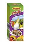 Avicentra tyč malý a str. Papagáj - ovocia a orech 2 ks