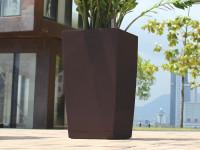 Samozavlažovací kvetináč GreenSun ICES 22x22 cm, výška 43 cm, hnedý