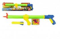 Vodné pištole striekacie pumpa 3v1 + vodné bomby a raketa plast 60cm