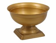Váza cintorínske gazon plastová zlatá d28x21cm