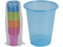 kelímok 200ml plastový (50ks) jednorazový - mix farieb