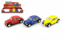 Auto Kinsmart VW Classical Beetle kov 17cm voľný chod - mix farieb