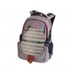 Easy flow 920763 Batoh studentský dvoukomorový šedý, vzor na přední straně, bavlna, 26 l