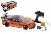 Auto RC oranžové zrýchľujúce plast 40cm 27MHz na batérie + dobíjacie pack