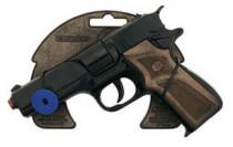 Policejní pistole černá kovová 8 ran