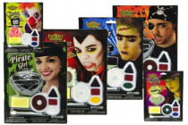 Barvy obličejové s doplňky na kartě 16x21cm karneval - mix variant či barev