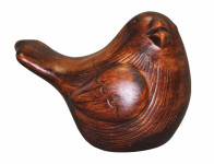 Figúrka VRABEC MALÝ WOOD keramická matná v12cm
