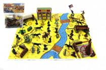 Sada indiáni a kovboji s mapou a doplnky plast v sáčku 28x33cm