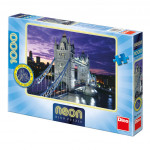 Puzzle Londýn most Tower Bridge svietiace v tme 66x47cm 1000dílků