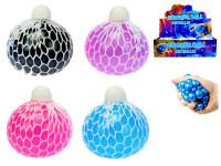 Loptička sieťkový strečový perleťový 7 cm - mix farieb