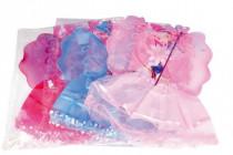 Křídla víla karneval se sukní, čelenkou a hůlkou v sáčku 50x53cm - mix barev