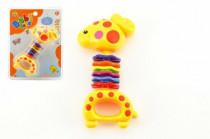 Hrkálka žirafa plast 15cm na karte 3m +