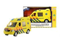 Auto ambulance plast 22cm na baterie se světlem se zvukem