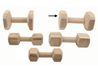 Aport tréningový drevo B & F 1 kg