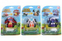 Transformer auto / robot plast 7,5 cm - mix farieb