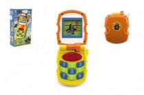 Krtkov mobil telefón meniace obrázky Krtko žltý plast so svetlom a so zvukom v krab. 6m +