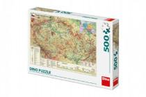 Puzzle Mapa Českej Republiky 47x33cm 500dílků