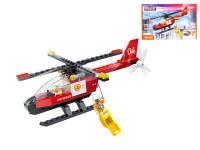 EDUKIE stavebnice hasičský vrtulník 103 ks + 2 figurky