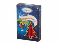 Sviečka vianočné stromčeková matná d1,2x12cm 12ks