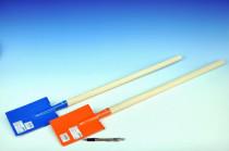 Rýč s násadou rovný kov/dřevo 80cm nářadí - mix barev