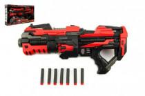 Pištoľ puška na penové náboje plast 45cm na batérie